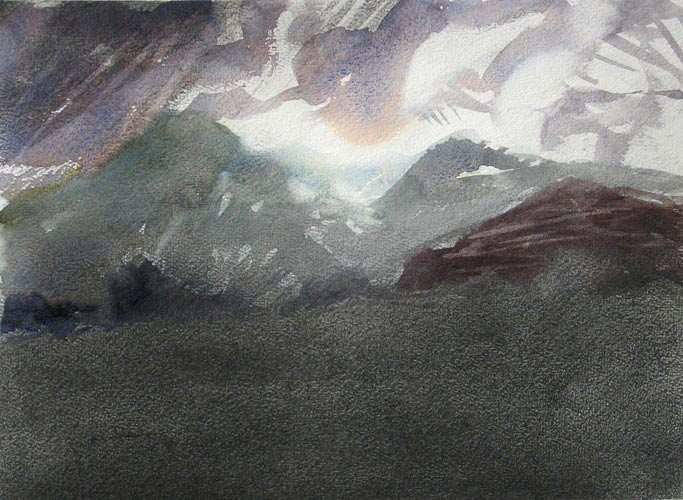Newlands Shifting Clouds painting image